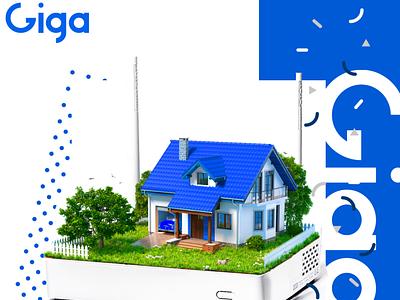Giga packages clean illustrator icon graphic design vector type photomanipulation photoshop flat website app web ui typography branding design