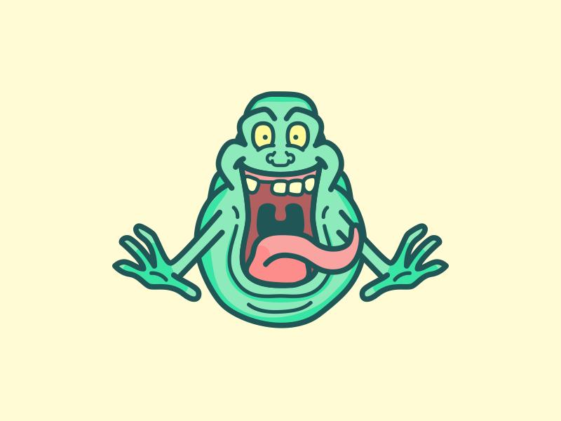 Slimer! by Rye on Dribbble