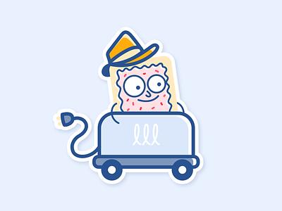 Mr. Pop-Tart is off to work sticker vector rickandmorty toaster poptart