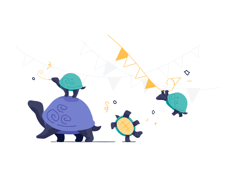 Growing your team shopify party time turtles