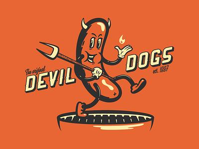 Devil Dogs vector illustrator devil hotdog