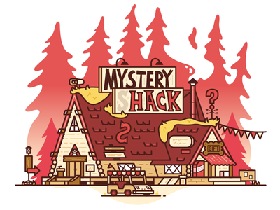 Mystery Shack - RE-RE-REMIX building vector mystery shack gravity falls