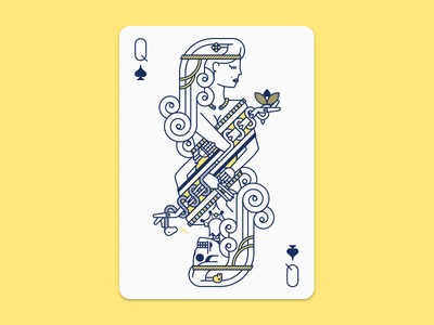 Hel - Goddess of Death norse goddess snake death woman vector spade queen playing card