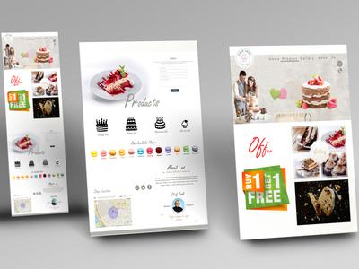 Bakery website Ui design.