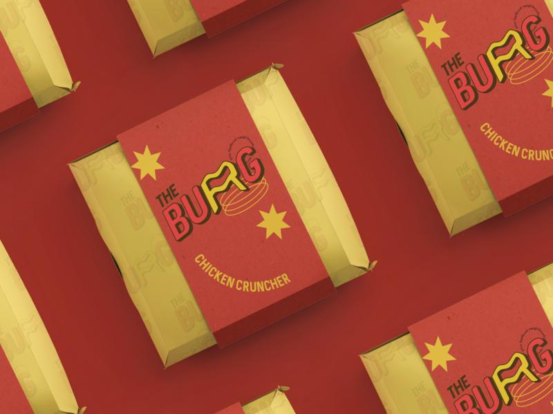 The BURG - fast food neighbourhood student fast food pop art burger packaging