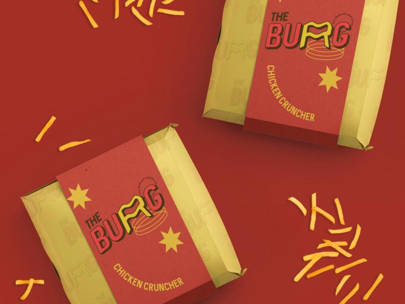 The BURG - Fast food neighbourhood branding pop art student fast food packaging burger