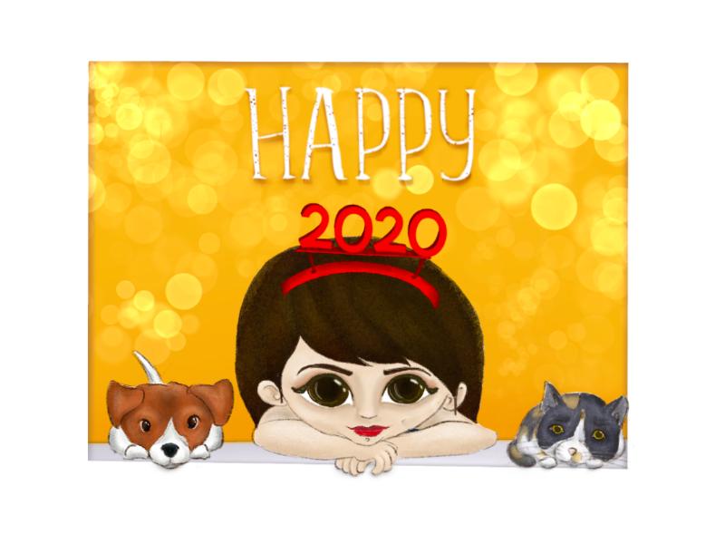 Happy 2020 By Maria Karava On Dribbble