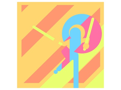 some graphic sketch adobe photoshop illustration caracter design orange yellow colors graphicdesign