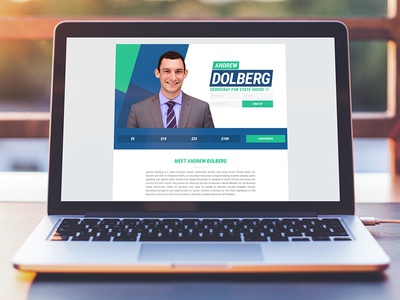 Landing page for Andrew Dolberg for State House 98