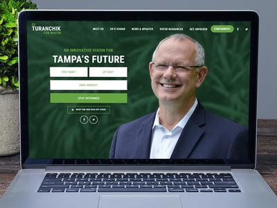 Website and branding for Ed Turanchik for Mayor