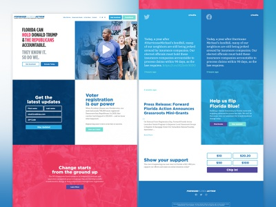 Forward Florida Action campaign wordpress theme web design voting government wordpress non-profit politics