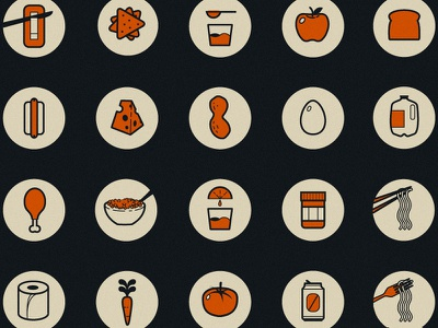 Spent icons icons food butter hot dog cheese egg milk cereal peanut butter carrot tomato beer can