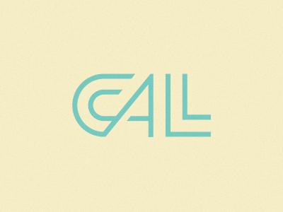 Ccall.me logo lettering branding