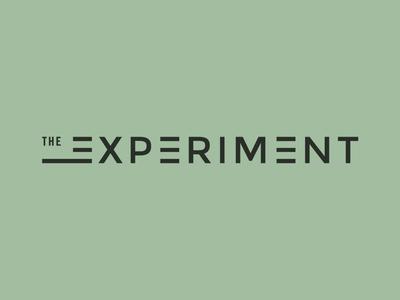 The Experiment Logo logo studio type
