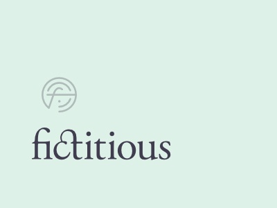 Fictitious Brand (real) logo brand icon type typography