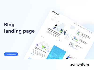 Zomentum - MSP CRM Blog landing page uidesign blog design landing page zomentum