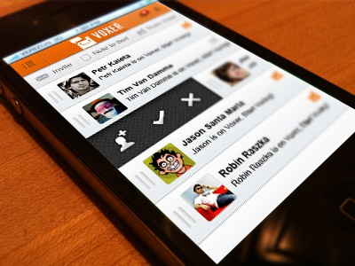 UI Re-design for Voxer by Rakesh Mondal | Dribbble | Dribbble
