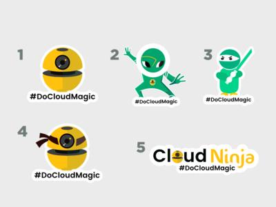 Cloud Ninja Sticker Design
