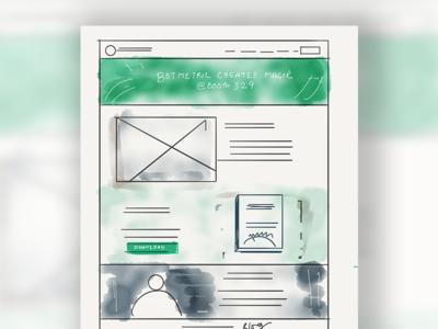 Botmetric Aws re:Invent Landing Page UI Wireframe Sketch