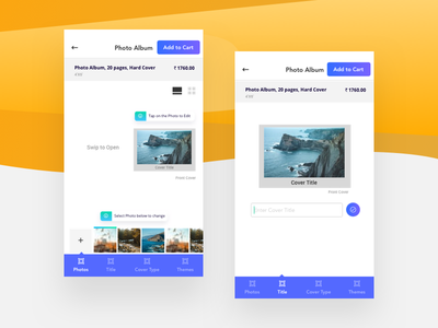 Android Printing App for Canvera canvera ux canvera. app ui photo album android printing app