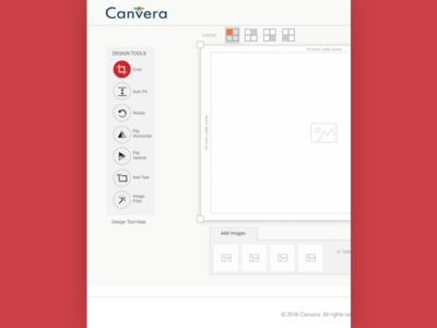 Image editor wireframe ui for canvera