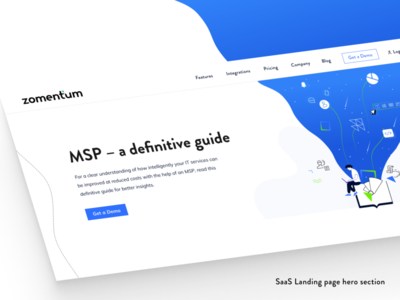SaaS Landing page hero section