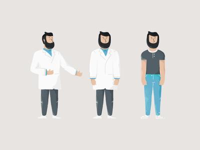 Doctor Dude beard dude doctor texture illustration character design character