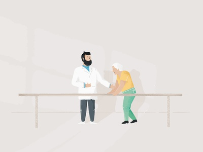 Doctor Dude pt. 2 beard dude doctor texture illustration character design character