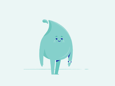 Water Droplet Character inanimate texture character design illustration design character droplet water