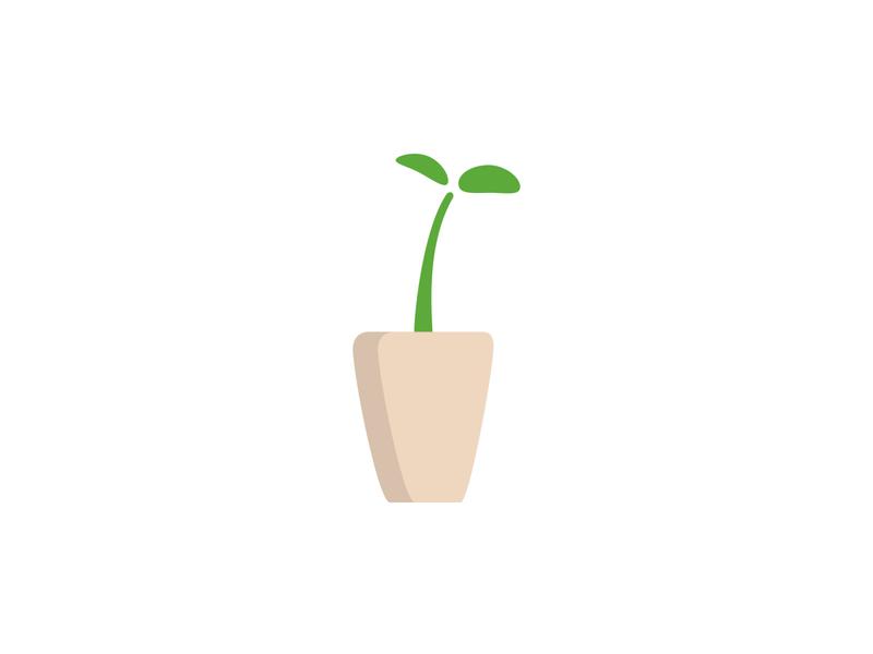 Plant in the pot ux ui logo for sale flatdesign clipart flat illustration plant based vector icon plant icon plant illustration plant logo