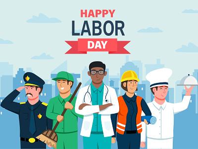 Labor Day Illustration design flat design illustration flat illustration vector work laborday labor