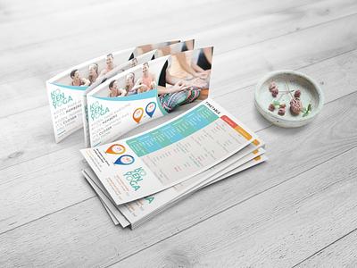 DL flyer Yoga Classes design graphic design print design yoga studio yoga classes yoga flyer yoga rack card dl flyer dl