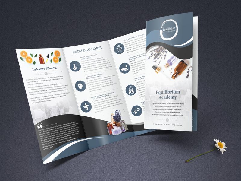 Tri-fold brochure - Aromatherapy Classes flyer print design lavender aromatherapy tri-fold tri-fold brochure trifold brochure brochure design print design graphic design