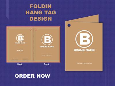 Folding Hang Tag Design illustrator