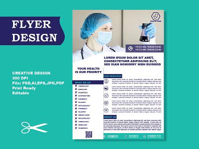 Flyer Design - Hospital sharif leaflet design graphic design flyer design - hospital