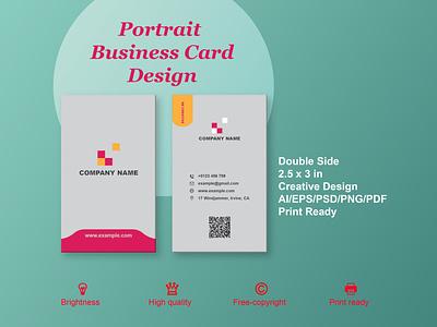 Portrait Business Card Design for brand invite card brand design creative card design branding sharif brand graphic design design business card card business