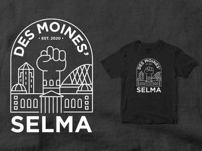 Des Moines' Selma t-shirt art tshirt shirt design symbol logotype logo type logo design logo mark digita art design art illustration iowa des moines line art logo shirt