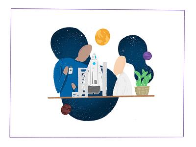 What To Expect... digital drawing drawing illustration illustrator scientist stars planets design art apple pencil ipad pro procreate digital painting digital design digital art web design web development rocket nasa space
