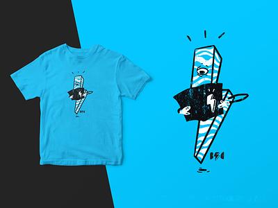 Cyclops Reading digital illustration illustrate design art logodesign comic bolt lightning bolt distress t shirt design shirt design logo t shirt shirt t-shirt