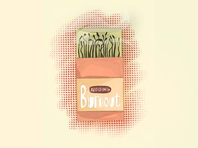 2020: Avoiding Burnout typogaphy vector logo digital art drawing digital design illustration art design