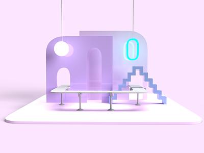 Julio Torres's Stage is My Favorite Shape digital art digital design digital illustration art design shapes dimension 3dart 3d adobe