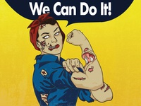 Rosie The Riveter Zombie