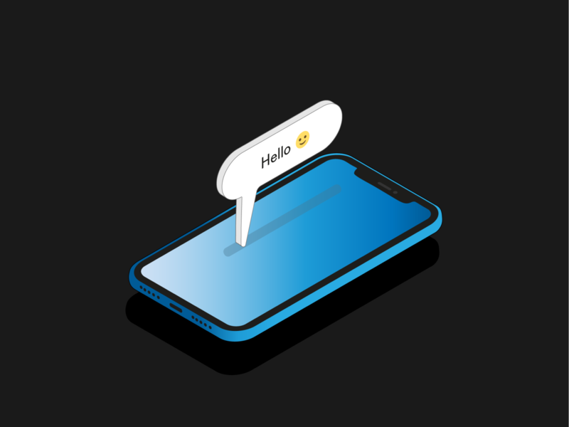 Isometric projection iPhone 11