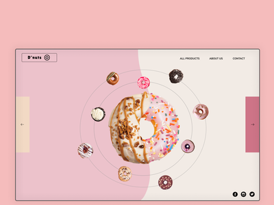 D'nuts Website Design design webdeveloper yummy app web user interface webdesing webdesign tasty uiux webdesigner website donuts donut