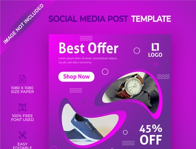 Best offer social media post template