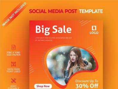 Big sale social media post template