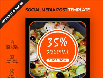 Food discount social media post template