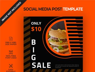 Foods big sale social media post template