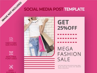 Mega fashion sale social media post
