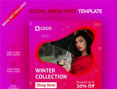Winter collection social media post template